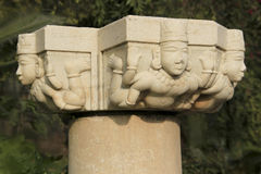 Pillar Head Carving Stock Photography