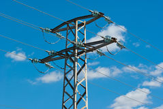 Pillar high voltage Royalty Free Stock Image
