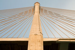 Pillar of huge bridge Royalty Free Stock Image