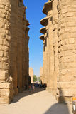 Pillar, Karnak Temple in Egypt, Africa Stock Images