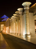 Pillar lines in wafi center Dubai Royalty Free Stock Photo