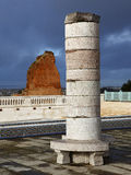 Pillar of the mausoleum of Mohammed V. Stock Photos