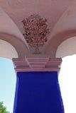 Pillar of the monastery Saint Catherine, Santa Catalina, Arequipa, Peru. Pillar of the famous monastery of Saint Catherine, Santa Catalina, in Arequipa, Peru stock photography
