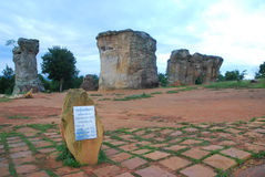 Pillar. Mor Hin Khao, big stone at Chaiyaphum Royalty Free Stock Photos