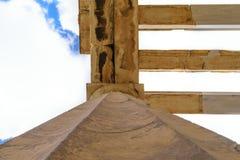 Pillar of propylaea monumental gateways to Acropolis royalty free stock images