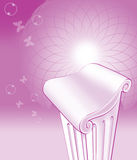 Pillar Purple Background Concept. Royalty Free Stock Photography