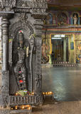 PIllar of Rama with inner sanctum entrance in background. Royalty Free Stock Photo