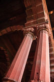 Pillar Of Red Fort Of Delhi. Pillars inside the red fort of Delhi in India (Lal Qilah Stock Photos