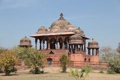 32 Pillar royal Cenotaphs also known as chhatris in Ranthambhore Fort Stock Photo