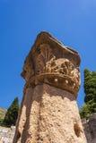 Pillar ruins at Ancient Messini, Messinia, Peloponnese, Greece Royalty Free Stock Photos
