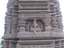 Pillar sculpture. Place - Aishwareshwar temple, Sinnar in India royalty free stock photos