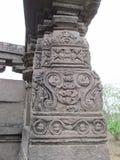 Pillar sculpture. Place - Aishwareshwar temple, Sinnar in India stock images