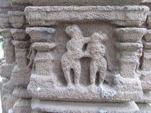 Pillar sculpture. Place - Aishwareshwar temple, Sinnar in India stock photo
