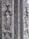 Pillar sculpture. Place - Aishwareshwar temple, Sinnar in India royalty free stock image