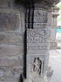 Pillar sculpture. Place - Aishwareshwar temple, Sinnar in India stock photography