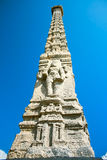 Pillar Sculptures on beach in Pondicherry Royalty Free Stock Photography