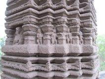 Pillar sculptures. Place - Aishwareshwar temple, Sinnar in India stock image