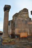 Pillar and sone stones in Zvartnots ruins. Armenia Stock Photos