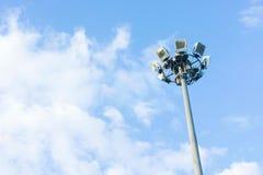 Pillar spotlights on blue sky background ,outdoor Stock Image