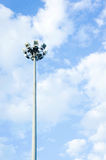The Pillar spotlights on blue sky background ,outdoor Royalty Free Stock Image