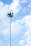 Pillar spotlights on blue sky background ,outdoor Stock Photography