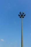 Pillar spotlights in the sky Stock Photography
