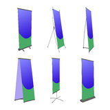 Pillar stand placard banner billboard poster ad Stock Image