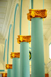 Pillar of The Sultan Ibrahim Jamek Mosque Stock Photo