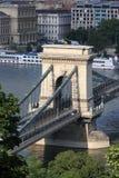 Pillar of Szechenyi Chain Bridge Royalty Free Stock Photos