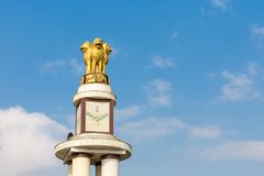 Pillar for the 50th anniversary of India, Chennai, Tamil Nadu stock photo
