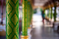 Pillar in Thai temple Royalty Free Stock Image