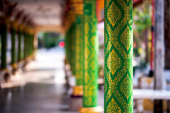 Pillar in Thai temple Royalty Free Stock Images