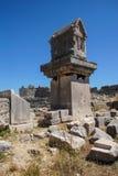 Pillar tomb Royalty Free Stock Image