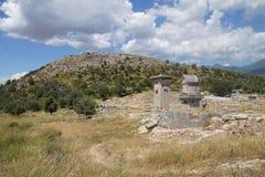 Pillar tomb of the ancient city Stock Photos