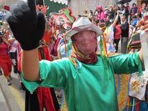 Pillaro Diablada en Ecuador Imagen de archivo libre de regalías