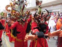 Pillaro Diablada en Ecuador Imágenes de archivo libres de regalías