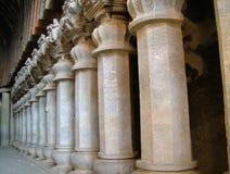 Pillars. A series of pillars at Karla Caves, Pune ,India Royalty Free Stock Photography