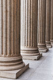 Pillars. The  photo  is   stone  Pillars, close up Royalty Free Stock Photography