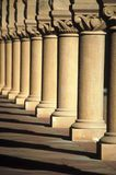 Pillars. Row of pillars with ornament Royalty Free Stock Images