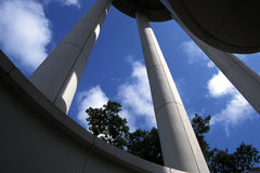 Pillars. Three pillars of a tower structure in a Hong Kong Park, Central, Hong Kong Royalty Free Stock Photography