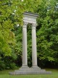 Pillars. In a graveyard Stock Image