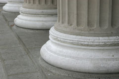 Pillars. Feet of large pillars stock photos