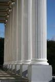 Pillars. Looking along a row of pillars Stock Photos