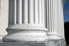 Pillars. Close up view of base of pillars Royalty Free Stock Photo
