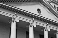Pillars. Abstract image of a church that has pillars stock photos