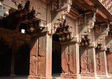Pillars at Agra Fort in India Stock Photography