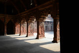 Pillars at Agra Fort in India Royalty Free Stock Photography