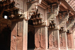 Pillars at Agra Fort Royalty Free Stock Images