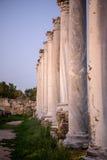 Pillars in ancient city of Salamis, Cyprus. Stock Photo