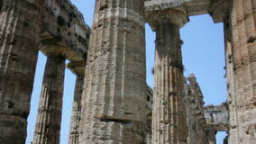 Pillars of an Ancient Greek Temple stock footage